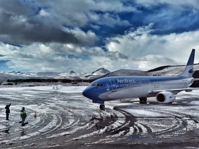 avion con nieve