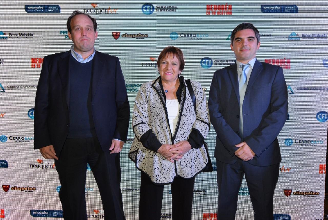 Alejandro Ferreira, Brunilda Rebolledo y Juan Pablo Padial
