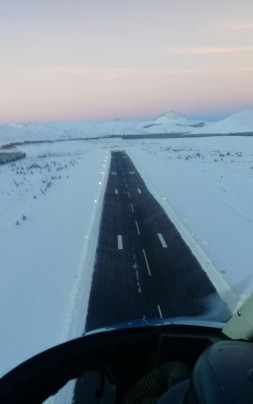 aeropuerto nevado