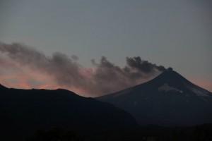 Amanecer en el volcán Villarrica.