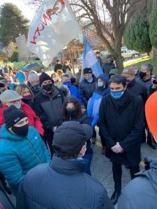 protesta saloniti bajando