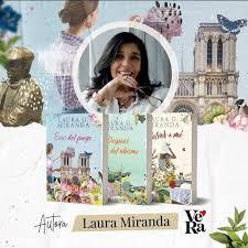 laura miranda con sus libros